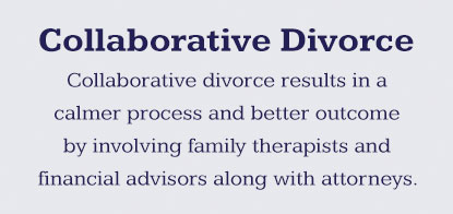Collaborative family law is a process that reduces stress with the help of multiple family health professionals.
