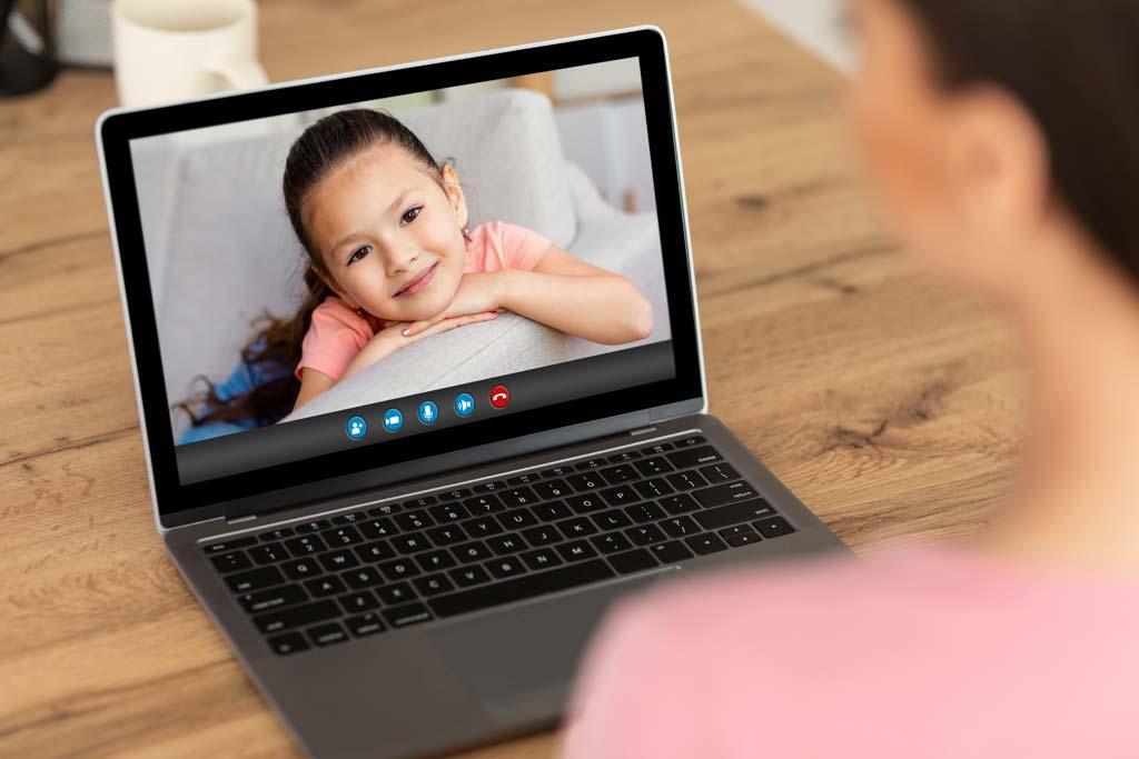 shared child custody through zoom